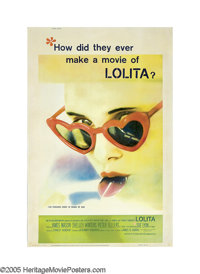 "Lolita (MGM, 1962). Poster (40"" X 60""). Vladimir Nabokov's novel caused outrage in the United States, so what..."