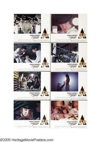"""Clockwork Orange (Warner Brothers, 1971). Lobby Card Set of 8 (11"""" X 14""""). Certainly unsettling and deeply dis..."""