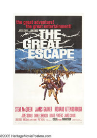 "The Great Escape (United Artists, 1963). One Sheet (27"" X 41""). ""We have in effect put all our rotten egg..."