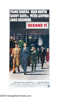 "Ocean's 11 (Warner Brothers, 1960). Three Sheet (41"" X 81""). Here they are, the kings of cool, the infamous Ra..."