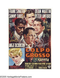 "Ocean's 11 (Warner Brothers, 1960). Italian (39"" X 55""). Averardo Ciriello was the artist behind this impressi..."