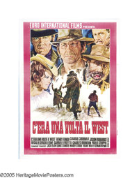 """Once Upon A Time in the West (Paramount, 1969). Italian (39"""" X 55""""). This original Italian 2 folio is consider..."""