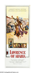 "Movie Posters:Academy Award Winner, Lawrence of Arabia (Columbia, 1962). Insert (14"" X 36"") Roadshow.David Lean's account of the T. E. Lawrence's adventures ha..."