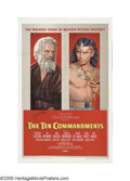 "Movie Posters:Drama, The Ten Commandments (Paramount, 1956). One Sheet (27"" X 41"") StyleB. Anyone who's watched television on Easter weekend is ..."