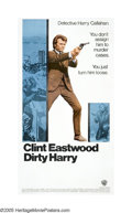 "Movie Posters:Action, Dirty Harry (Warner Brothers, 1971). Three Sheet (41"" X 81""). ClintEastwood asked the pivotal question, ""Do you feel lucky,..."