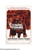 "Movie Posters:Western, A Fistful of Dollars (United Artists, 1966). One Sheet (27"" X 41""). As an American television actor who could not find work ..."