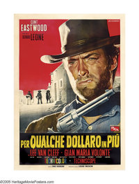 """For a Few Dollars More (United Artists, 1967). Italian (55"""" X 79""""). Sergio Leone's sequel to """"A Fistful o..."""