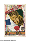 """Movie Posters:Hitchcock, Spellbound (United Artists, R-late 1940s). Argentinian One Sheet (29"""" X 43""""). This surreal film results from the singular co..."""