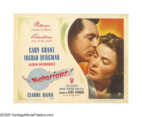 """Notorious (RKO, 1946). Title Lobby Card (11"""" X 14""""). Cary Grant stars as a federal agent who pushes the daught..."""