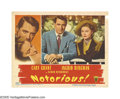 "Movie Posters:Hitchcock, Notorious (RKO, 1946). Lobby Card (11"" X 14""). This card, commonlyreferred to as the racetrack scene, is considered by some..."