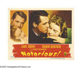 "Movie Posters:Hitchcock, Notorious (RKO, 1946). Lobby Card (11"" X 14""). The classic portraitcard from Alfred Hitchcock's ""Notorious"" is one of the b..."