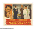 """Movie Posters:Hitchcock, Notorious (RKO, 1946). Lobby Card (11"""" X 14""""). Cary Grant tries toact nonchalant as Louis Calhearn places a necklace around..."""