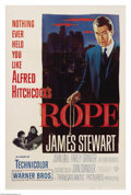 "Movie Posters:Hitchcock, Rope (Warner Brothers, 1948). One Sheet (27"" X 41""). ""We killed forthe sake of danger and for the sake of killing."" Alfred ..."