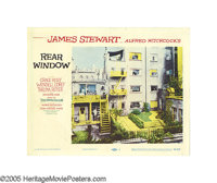 "Rear Window (Paramount, 1954). Lobby Cards (4) (11"" X 14""). Jimmy Stewart plays a character not unlike a membe..."