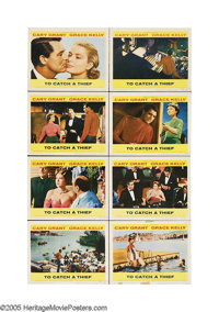 """To Catch a Thief (Paramount, 1955). Lobby Card Set of 8 (11"""" X 14""""). Following their collaboration in """"Re..."""