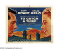 "Movie Posters:Mystery, To Catch a Thief (Paramount, 1955). Half Sheet (22"" X 28"") Style B.With television invading homes in the 1950s, Hollywood h..."
