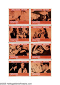 """Movie Posters:Hitchcock, Vertigo (Paramount, 1958) Lobby Card Set of 8 (11"""" X 14"""") One of Hitchcock's true masterpieces, this taut psychological thri... (8 items)"""