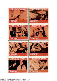 "Vertigo (Paramount, 1958) Lobby Card Set of 8 (11"" X 14"") One of Hitchcock's true masterpieces, this taut psyc..."