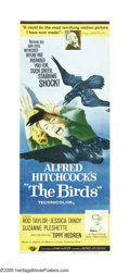 """Movie Posters:Hitchcock, The Birds (Universal, 1963). Insert (14"""" X 36""""). Riveting Alfred Hitchcock horror tale of an isolated community ravaged by s..."""