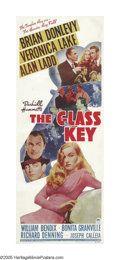 "Movie Posters:Film Noir, The Glass Key (Paramount, 1942). Insert (14"" X 36""). Based onDashiell Hammett's classic crime novel, this pairing of Alan L..."