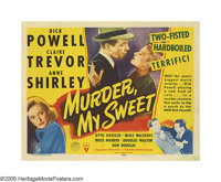 "Murder My Sweet (RKO, 1944). Title Lobby Card (11"" X 14""). In this hard-boiled film noir classic, 1930s song-a..."