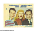 """Movie Posters:Film Noir, Double Indemnity (Paramount, 1944). Lobby Card (11"""" X 14""""). Anothershining example on Billy Wilder's film resume, """"Double I..."""
