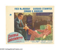 "Movie Posters:Film Noir, Double Indemnity (Paramount, 1944). Lobby Card (11"" X 14""). FredMacMurray plays insurance salesman Walter Neff, named ""Walt..."