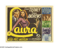 """Movie Posters:Film Noir, Laura (20th Century Fox, 1944). Title Card (11"""" X 14""""). When askedwhy she would turn down the title role, Hedy Lamarr repli..."""