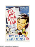 "Movie Posters:Drama, The Lost Weekend (Paramount, 1945). Australian One Sheet (27"" X40""). Ray Milland gave an Oscar-winning performance in this ..."