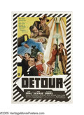 "Movie Posters:Film Noir, Detour (PRC, 1945). One Sheet (27"" X 41""). Director Edgar Ulmer shot this film noir masterpiece in just six days. Tom Ne..."