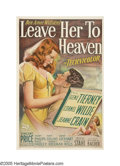 "Movie Posters:Film Noir, Leave Her to Heaven (20th Century Fox, 1945). One Sheet (27"" X41""). Based on the bestselling novel by Ben Ames Williams, ""L..."