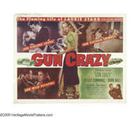 "Gun Crazy (United Artists, 1949). Half Sheet (22"" X 28""). Films about the fugitive couple, afflicted by the un..."