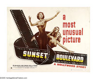 """Sunset Boulevard (Paramount, 1950). Half Sheet (22"""" X 28"""") Style A. """"All right, Mr. DeMille, I'm ready fo..."""