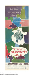 "Movie Posters:Crime, Beyond a Reasonable Doubt (RKO, 1956). Insert (14"" X 36""). This waslegendary director Fritz Lang's last film made in the Un..."