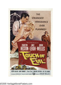 "Movie Posters:Film Noir, Touch Of Evil (Universal International, 1958). One Sheet (27"" X41"") Autographed. Director Orson Welles begins his filmno..."