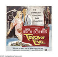 "Movie Posters:Film Noir, Touch Of Evil (Universal International, 1958). Six Sheet (81"" X81""). Orson Welles' brilliant direction made this bordertown..."