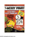 "Movie Posters:Animated, The Merry Dwarfs (Columbia, 1929). One Sheet (27"" X 41""). The Silly Symphonies, begun by Walt Disney in 1929, provided an in..."