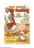"Movie Posters:Animated, The Ugly Duckling (RKO, 1939). One Sheet (27"" X 41""). Winner of theAcademy Award for Best Animation, this was the last of D..."
