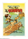 "Movie Posters:Animated, The Pointer (RKO, 1939). One Sheet (27"" X 41""). Walt Disney's lovable mouse, Mickey Mouse, goes quail hunting with his pal, ..."
