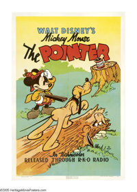 """The Pointer (RKO, 1939). One Sheet (27"""" X 41""""). Walt Disney's lovable mouse, Mickey Mouse, goes quail hunting..."""