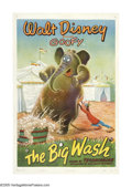 "Movie Posters:Animated, The Big Wash (RKO, 1947). One Sheet (27"" X 41""). Goofy is thecircus elephant handler and today is bath day for Dolores the ..."