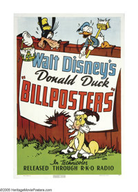 """Billposters (RKO, 1940). One Sheet (27"""" X 41""""). One of Disney's most famous animated shorts, """"Billposters..."""