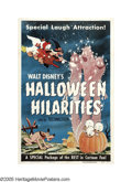 "Movie Posters:Animated, Halloween Hilarities (Walt Disney Productions, 1953). One Sheet(27"" X 41""). During 1953, Walt Disney Studios re-issued a nu..."
