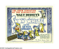 "Movie Posters:Animated, Snow White and the Seven Dwarfs (RKO, 1937). Title Lobby Card (11""X 14""). The film's proposal lists 50 ideas for the dwarve..."