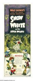 "Movie Posters:Animated, Snow White and the Seven Dwarfs (RKO, 1937). Insert (14"" X 36""). Walt Disney had entertained the idea of producing a feature..."