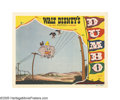 "Movie Posters:Animated, Dumbo (RKO, 1941). Lobby Card (11"" X 14""). ""Dumbo! The ninth wonderof the univoise! The world's only flyin' elephant!"" Timo..."