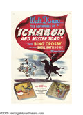 "Movie Posters:Animated, Ichabod and Mr. Toad (RKO, 1949). One Sheet (27"" X 41""). This was a""transition"" picture for Disney. During and shortly afte..."