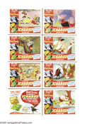 "Movie Posters:Animated, Ichabod and Mr. Toad (RKO, 1949). Lobby Card Set of 8 (11"" X 14""). Due to the belt-tightening of World War II, Walt Disney's... (8 Items)"