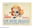 "Movie Posters:Comedy, Love Before Breakfast (Universal, 1936). Title Lobby Card (11"" X 14""). Based on ""Spinster Dinner,"" a Faith Baldwin novel, th..."