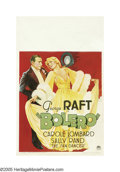 """Movie Posters:Drama, Bolero (Paramount, 1934). Window Card (14"""" X 22""""). George Raft madequite a career for himself by dancing, long before he en..."""